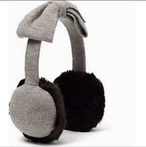 ♠️Kate Spade bow earmuffs with faux fur